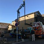 日吉本町の家  コンクリート打設