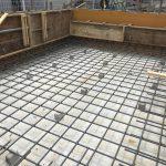 豆口台の家 コンクリート打設