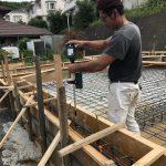 中川の家 打設