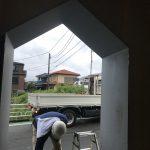 豆口台の家 玄関庇