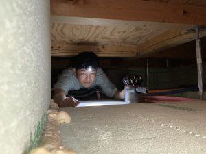 床下エアコンのメンテナンス